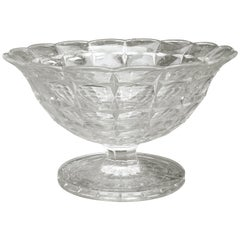 19th Century American Crystal Pedestal Bowl / Compote