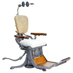 19th Century American Decorative Cast Iron Dentist Chair