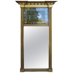 19th Century American Eglomise Mirror