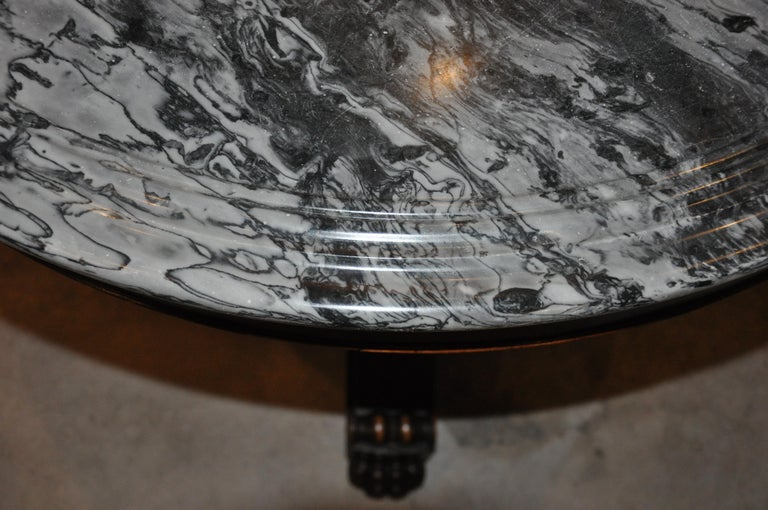 19th Century American Empire Marble-Top Center Table For Sale 1