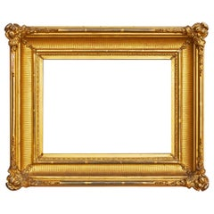 19th Century American Fluted Cove Gold Leaf Frame
