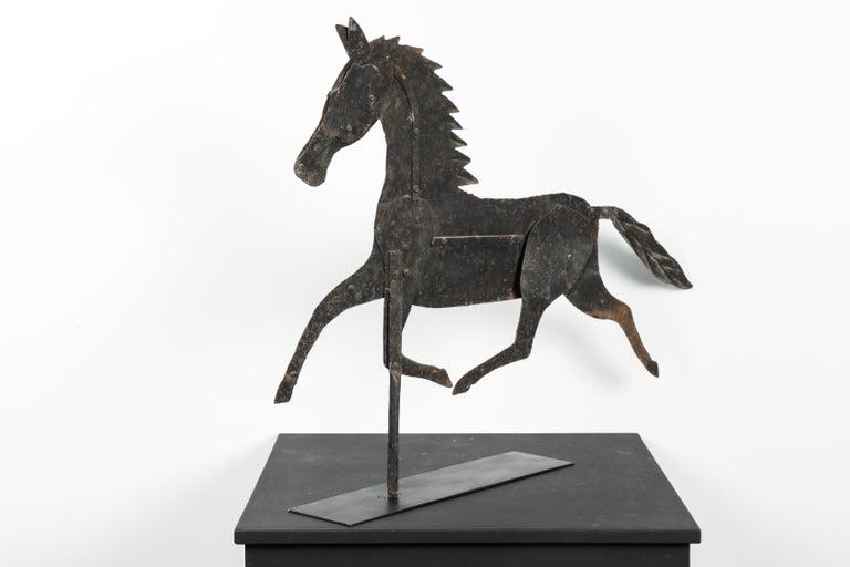 19th Century American Folk Art Iron Horse Weathervane For Sale 3