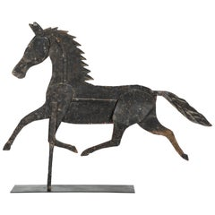19th Century American Folk Art Iron Horse Weathervane