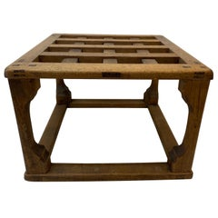 19th Century American Lattice Top Japanese Joinery Side Table