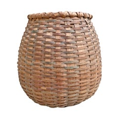 19th Century American Oak Splint Basket