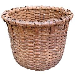 19th Century American Oak Splint Basket