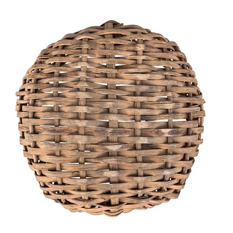19th Century American Oak Splint Swill Basket For Sale 2