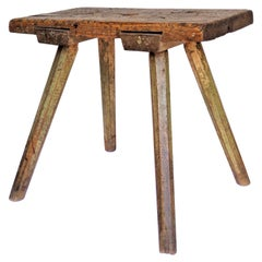 19th Century American Painted Primitive Stool