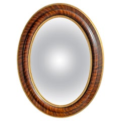 19th Century American Oval Convex Mirror