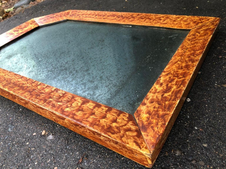 Wood 19th Century American Paint Decorated Frame with Original Mirror