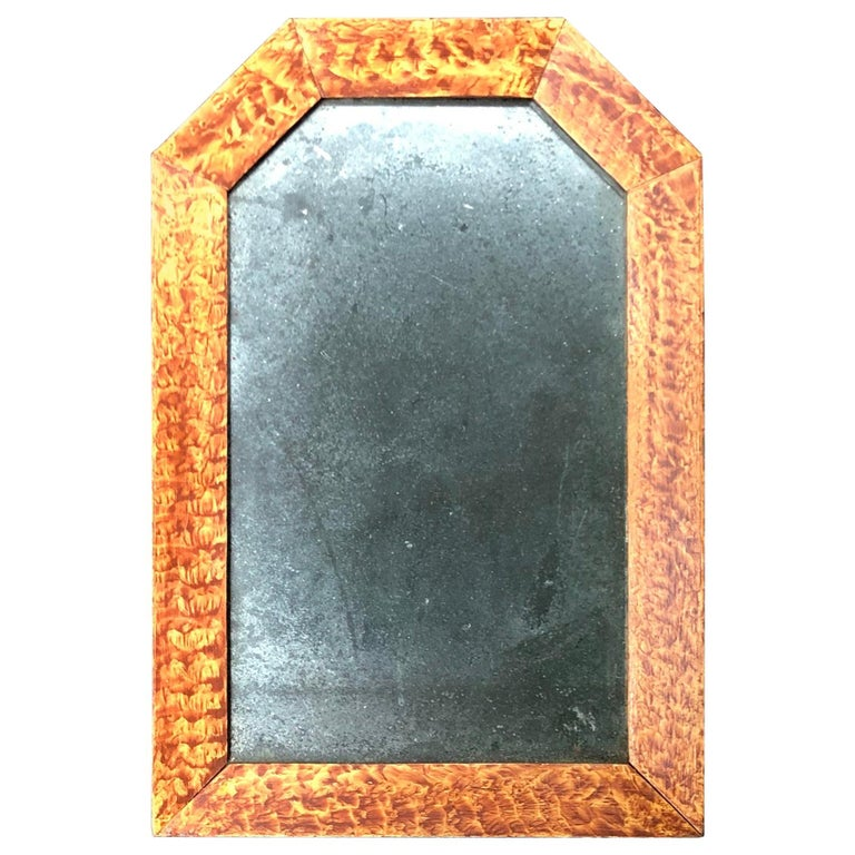 19th Century American Paint Decorated Frame with Original Mirror