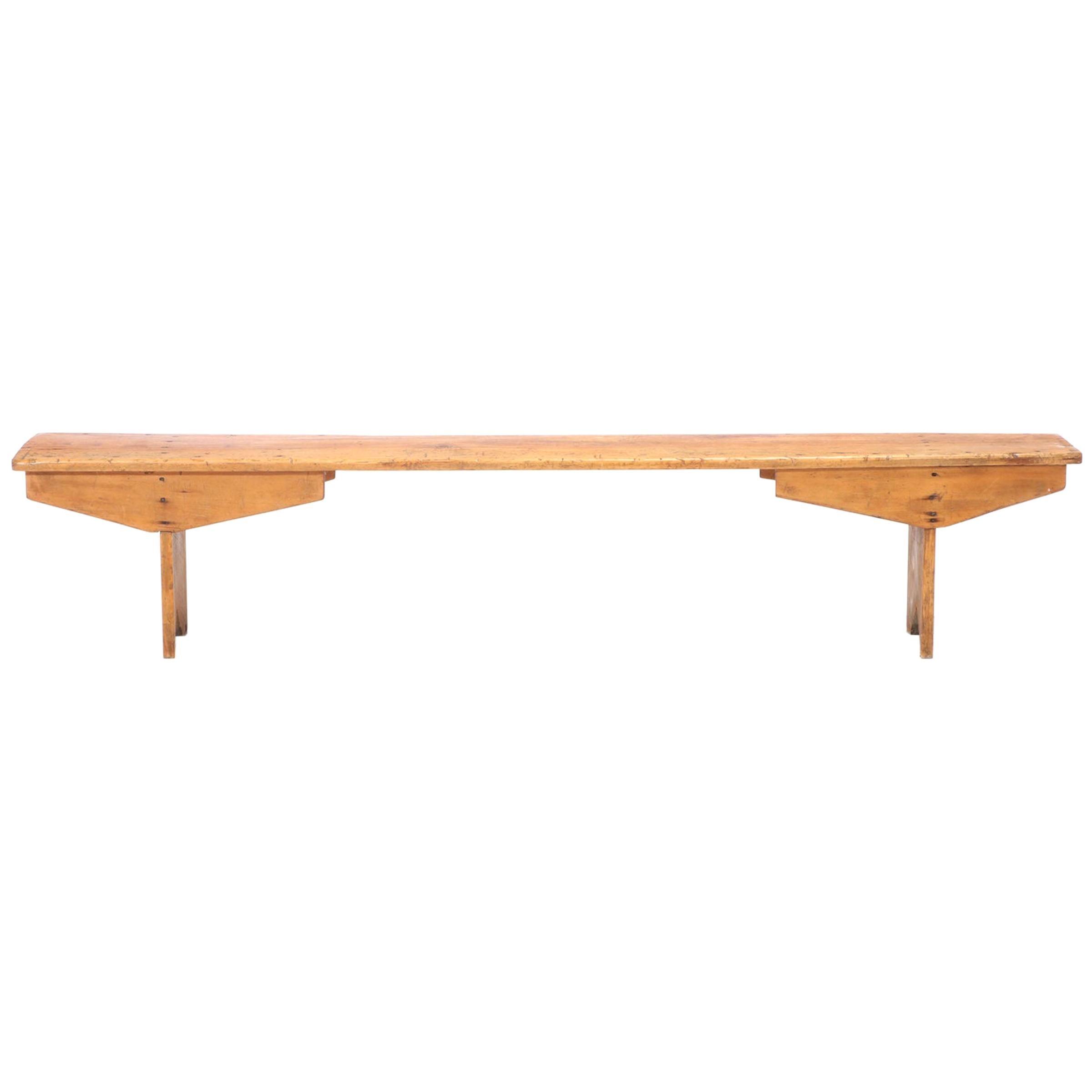 19th Century American Pine Bench