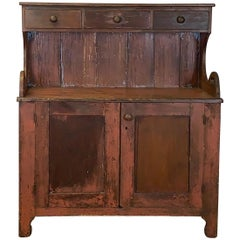 19th Century American Primitive Dry Sink or Cabinet