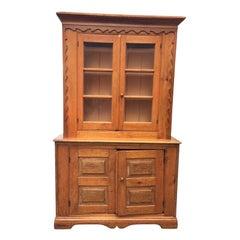 19th Century American Primitive Pine Cabinet
