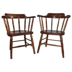 19th Century American Pub or Captains Chairs / Pair