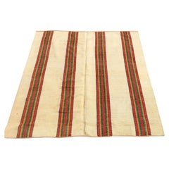 19th Century American Reversible Venetian Striped Carpet