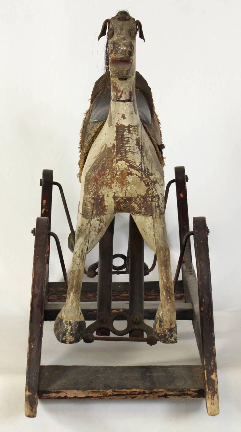 19th Century American Rocking Horse In Good Condition For Sale In Kilmarnock, VA