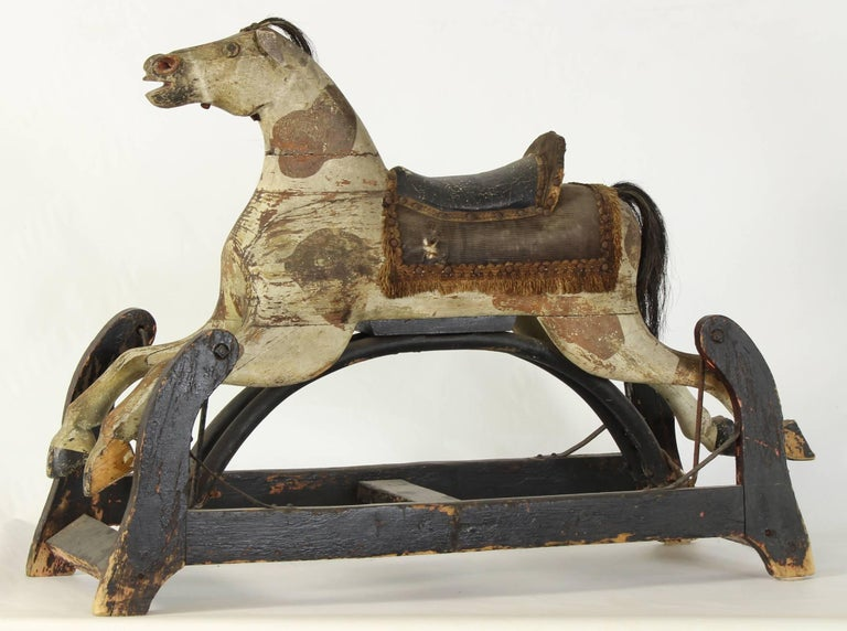19th Century American Rocking Horse For Sale 1