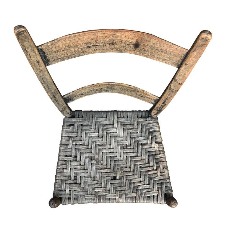 Oak 19th Century American Side Chair For Sale