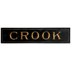 19th Century American Trade Sign 'Crook', Medina, NY