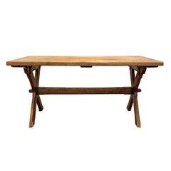 19th Century American Trestle Table
