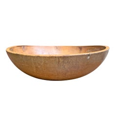 19th Century American Turned Dough Bowl
