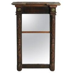 19th C. Mirror American Wood Carved Federal