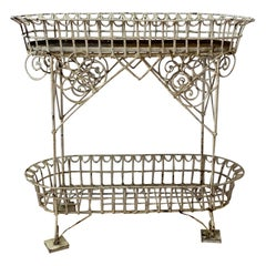 19th Century American Wrought Iron Plant Stand