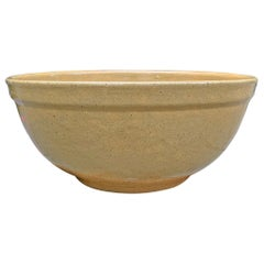 19th Century American Yellowware Mixing Bowl