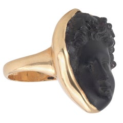 19th Century Amethyst Putto Cameo Ring