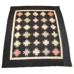 19th Century Amish Eight Point Star Quilt