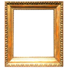 19th Century an Antique Empire Period Giltwood Frame