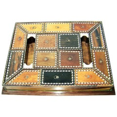 19th Century Anglo Ceylonese Specimen Wood Stationary Tray