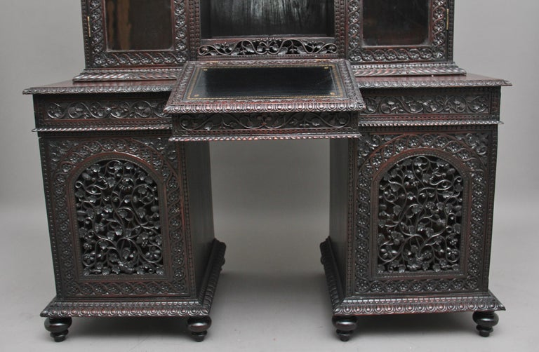 19th Century Anglo-Indian bookcase For Sale 5