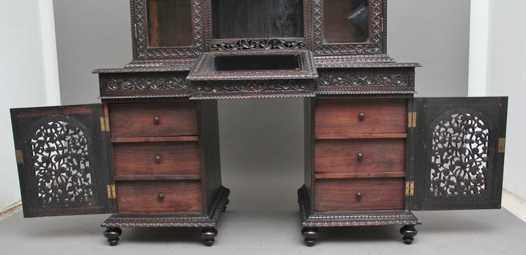 19th Century Anglo-Indian bookcase For Sale 6
