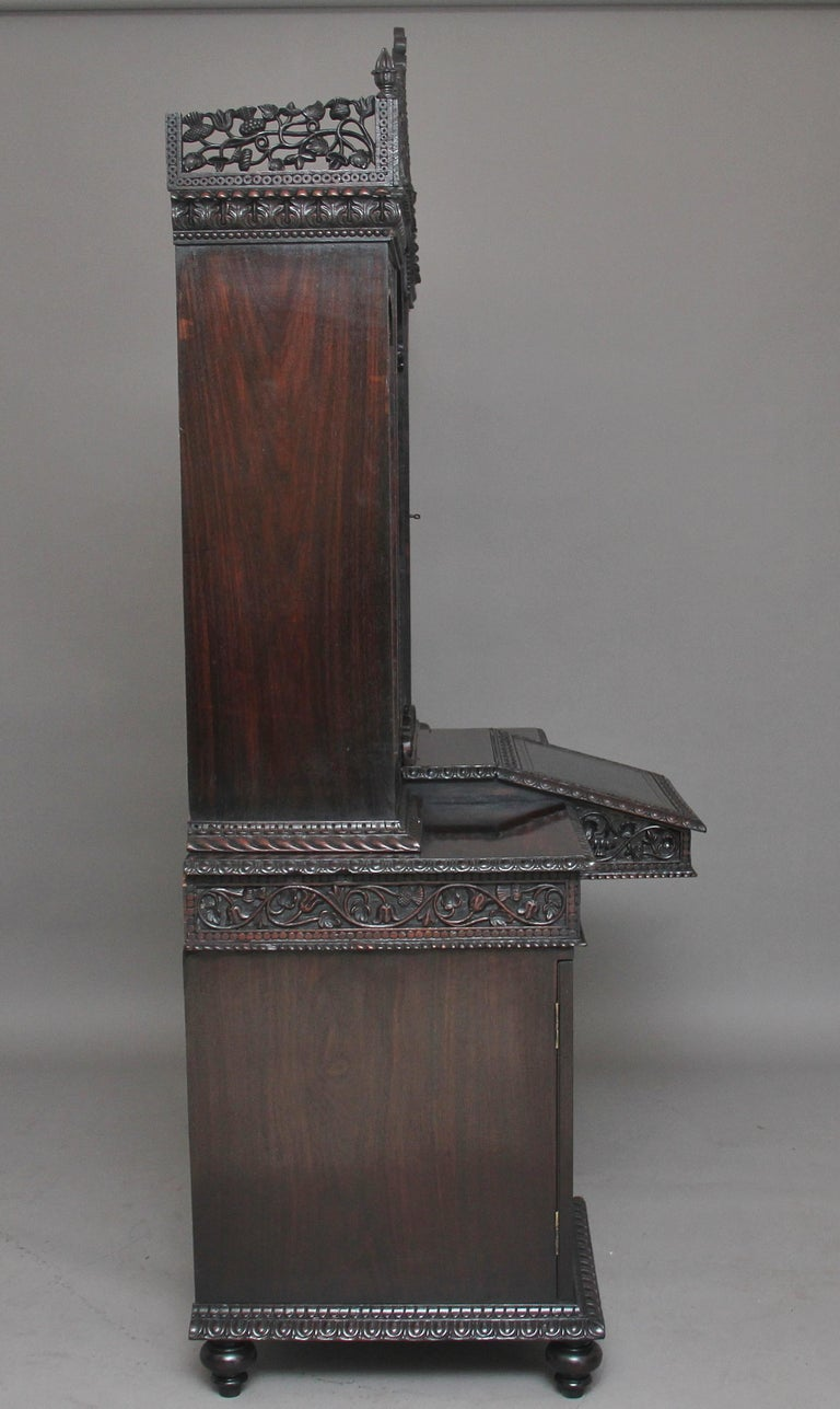 Mid-19th Century 19th Century Anglo-Indian bookcase For Sale