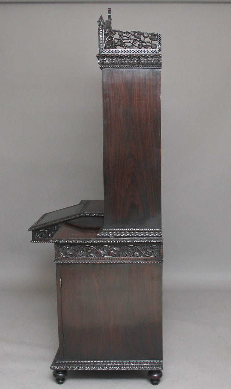 19th Century Anglo-Indian bookcase For Sale 1