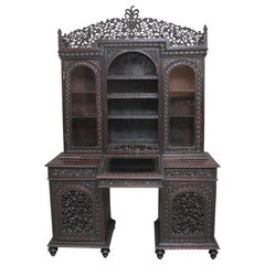 19th Century Anglo-Indian bookcase