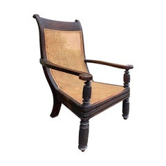 19th Century Anglo-Indian Caned Planters Armchair