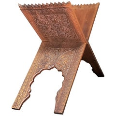 19th Century Anglo-Indian Folding Magazine or Quran Stand