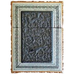 19th Century Anglo-Indian Sadeli Mosaic Calling Card Case