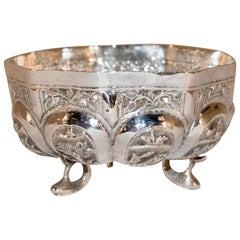 19th Century Anglo-Indian Silver Bowl