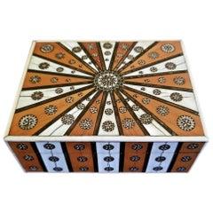 19th Century Anglo Indian Vizagapatam Sunburst Pattern Rectangular Box