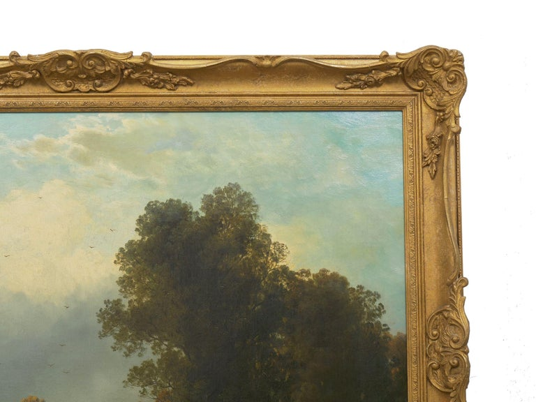 19th Century Antique Austrian Landscape Painting of Tyrol Lake by Anton Pick For Sale 7