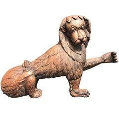 19th Century Antique Carved Lion