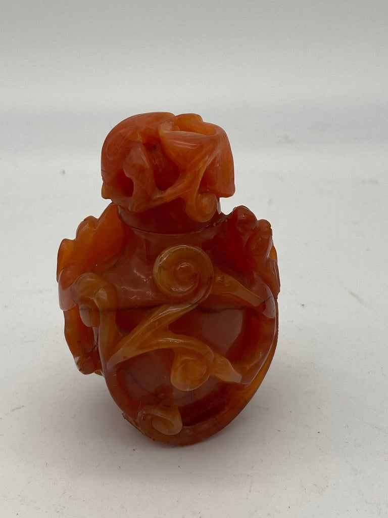19th Century Antique Chinese Agate Bottle For Sale 7