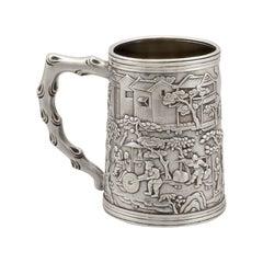 19th Century Antique Chinese Export Silver Mug, Circa 1820