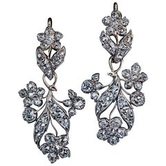 19th Century Antique Day to Night Diamond Earrings