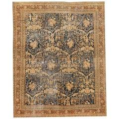 19th Century Antique Distressed Mahal Rug