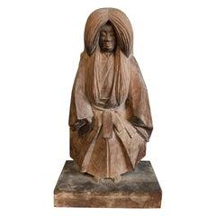 19th Century Antique Edo Period Natabori Sculpture